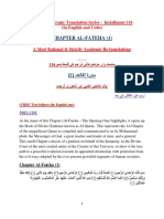 Thematic Translation Installment 116 Chapter Al-Fateha (1)