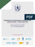MEDIDAS DE SEGURIDAD INMEDIATAS, OPORTUNAS Y PERTINENTES.
