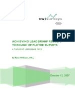 Employee Survey Process Achieving Leadership Results Ryan Williams Oct 2007
