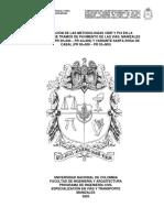 Comparación de Las Metodologías VIZIR y PCI en La Evaluación de Tramos de Pavimento de Las Vías