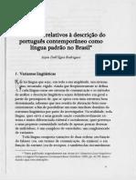 Problemas relativos à descrição do portugues contemporaneo
