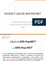 Tutorial APA PsycNET