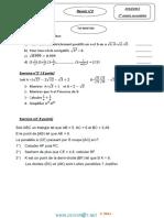 Devoir de Contrôle N°2 Lycée pilote - Math - 1ère AS (2014-2015) Mr Chaabane Mounir