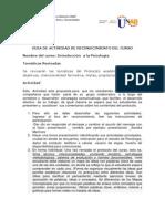 GUIA DE RECONCIMIENTO DE INTRODUCCION A LA PSICOLOGIA