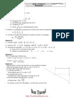 Devoir de maison N°1 - Math - 1ere AS (2009-2010)