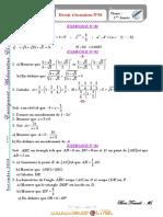 Devoir de maison N°1 - Math - 1ère AS  (2010-2011) Mr Faleh