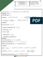 Devoir de Maison N°1 - Math - 1ère AS (2015-2016) Mr Guarrab Wissem