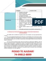 A Formação Do Professor Frente Às Teorias e Concepções Pedagógicas Contemporâneas Pegagogia 2 e 3