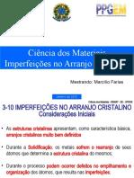 CIENCIA DOS MATETIAIS DEFEITOS I