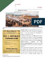 História Velha Republica
