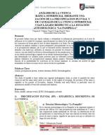 ANÁLISIS DE LA CUENCA HIDROGRÁFICA SUPERFICIAL MEDIANTE UNA CARACTERIZACIÓN DE LA PRECIPITACION PLUVIAL Y ESTIMACION DE CAUDALES DE LA CUENCA SUPERFICIAL UBICADA EN SAN LÁZARO RESPECTO A LA ESTACIÓN METEOROLÓG