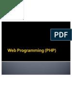 7. Web Programming (PHP)