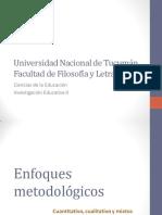 SE1 - Enfoques metodológicos cuanti, Cuali y mixto