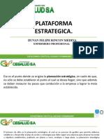 PLATAFORMA ESTRATEGICA.