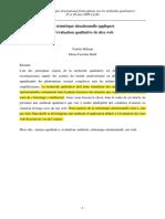 Valérie Méliani Marie Caroline Heïd, sémiotique situationnelle et site web