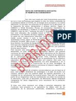 1. PROPUESTA EDUCATIVA EN TIEMPOR DE CORONAVIRUS