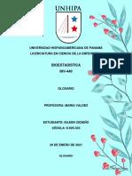 Glosario#1 Bioestadistica EMC