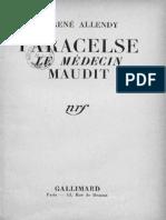 Paracelse, le médecin maudit - R. Allendy