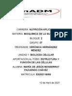 Estructura y función de las células