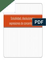 Clases Solubilidad disoluciones y expresiones de concentracion