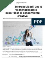 Técnicas de creatividad _ Los 15 mejores métodos para generar ideas