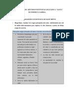 Teoría Literaria II, Aplicación a SANTA de Ferderico Gamboa. 2 metodos positivistas