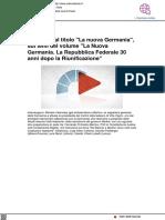 """Incontro dal titolo """"La nuova Germania"""" - Radioradicale.it, 22 aprile 2021"""
