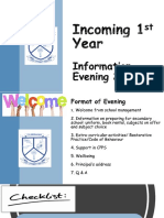 incoming 1st year information evening 2021