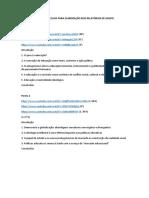 Links de vídeos e estruturas dos protocolos de relatórios de grupo