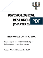 Week 3 (Psychological Research)
