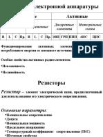Т.1. Пассивные элементы
