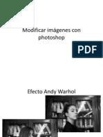 Modificar imágenes con photoshop