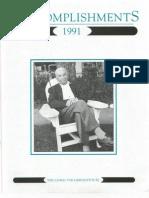 1991 Mises Institute Accomplishments