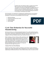 Cycle time in manufacturing