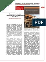 [Resenha] Renascimento Híbrido Cultura, Língua e Arquitetura, De Peter Burke