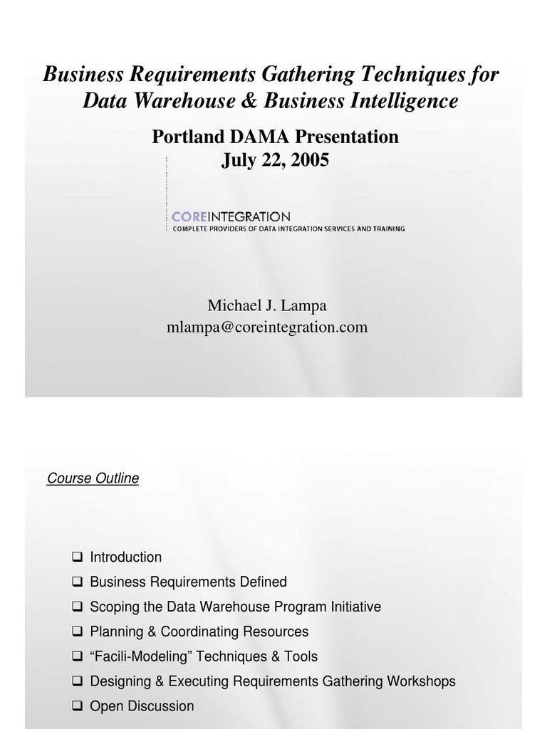 Businessrequirementsgatheringpracticaltechniquesfinal data businessrequirementsgatheringpracticaltechniquesfinal data warehouse business intelligence flashek Images