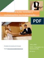 UFCD 8260 Comunicação Vendas e Reclamações Na Restauração Índice