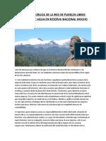 DECLARACIÓN PÚBLICA DE LA RED DE PUEBLOS LIBRES ANTE DESVÍO DE AGUA EN RESERVA NACIONAL MOCHO CHOSHUENCO