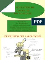 PRESENTATION DE LA MICROSCOPIE
