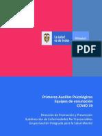 Primeros Auxilios Psicologicos Equipos de vacunacion COVID 19