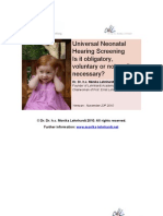 Universal Neonatal Hearing Screening