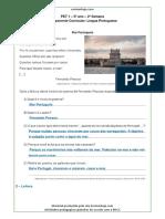 PET 1 5o Ano Lingua Portuguesa 2a Semana