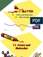 MATTER (1.1 Atoms and Molecules)