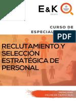 Curso de Especializacion Reclutamiento y Seleccion Estrategica de Personal