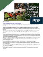 COVER 2 TAMPA (traducción) DEFENSE FOOTBALL COACHING GUIDE. COACH MARTIN
