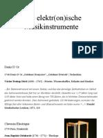 Erste elektr(on)ische  Musikinstrumente