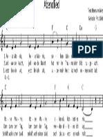 Abendlied (Rose Marie) - Notat