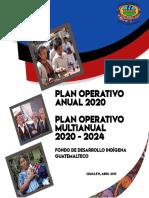 ANTEPROYECTO POA 2020 POM 2020