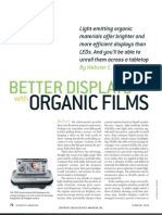 better display with organics film
