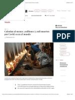 La Jornada - Calculan al menos 3 millones 73 mil muertos por Covid-19 en el mundo